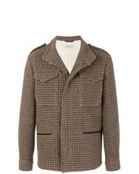 Коричневая шерстяная полевая куртка