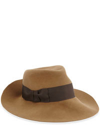 Коричневая шерстяная шляпа
