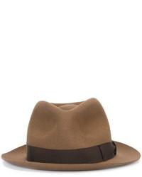Мужская коричневая шерстяная шляпа от Borsalino