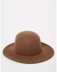Мужская коричневая шерстяная шляпа от Brixton