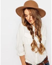 Женская коричневая шерстяная шляпа от Brixton