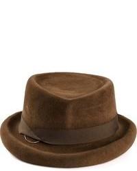 Мужская коричневая шерстяная шляпа от CA4LA