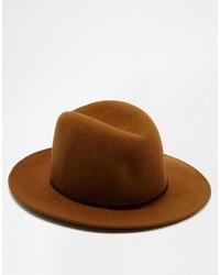 Мужская коричневая шерстяная шляпа от Catarzi