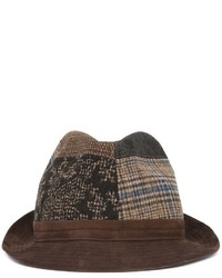 Мужская коричневая шерстяная шляпа от Etro
