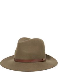 Женская коричневая шерстяная шляпа от Rag & Bone