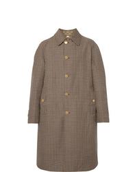 """Коричневое длинное пальто с узором """"гусиные лапки"""" от Gucci"""