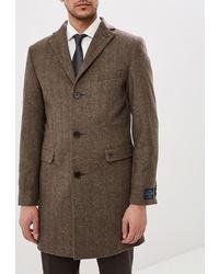 Коричневое длинное пальто от Bazioni