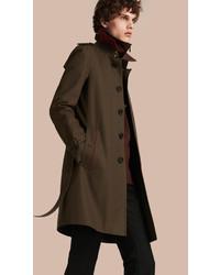 Мужское коричневое длинное пальто от Burberry
