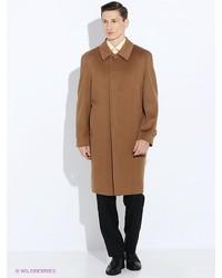Коричневое длинное пальто от Estrade