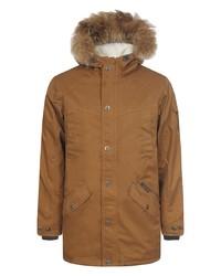 Коричневое длинное пальто от Rukka