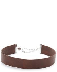 Женское коричневое кожаное колье от Jennifer Zeuner Jewelry