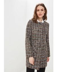 Женское коричневое пальто в шотландскую клетку от Paradox