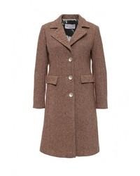 Женское коричневое пальто от Fontana 2.0