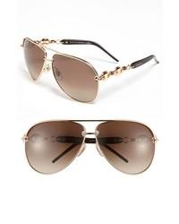 Коричнево-золотые солнцезащитные очки