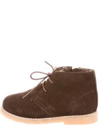 Коричневые ботинки дезерты