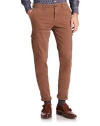 Коричневые брюки карго