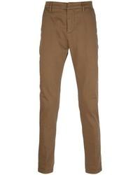 Коричневые брюки чинос