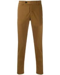 Коричневые брюки чинос от Al Duca D'Aosta 1902