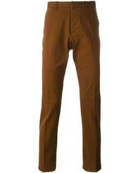 Коричневые брюки чинос от Ami Paris