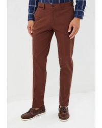 Коричневые брюки чинос от BAWER