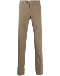 Коричневые брюки чинос от Corneliani