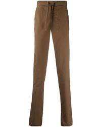Коричневые брюки чинос от Incotex