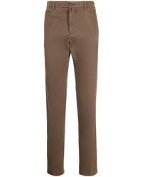 Коричневые брюки чинос от Kiton
