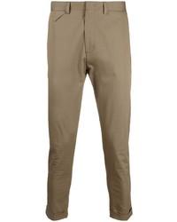 Коричневые брюки чинос от Low Brand