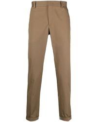 Коричневые брюки чинос от Pt01