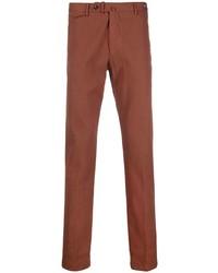 Коричневые брюки чинос от Tagliatore