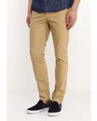 Коричневые брюки чинос от Topman