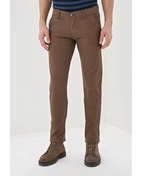 Коричневые брюки чинос от Young & Rich