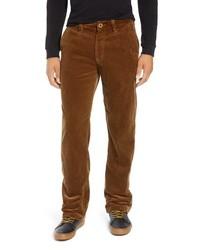 Коричневые вельветовые брюки чинос
