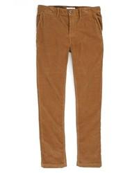 Коричневые вельветовые джинсы