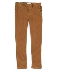 Коричневые вельветовые классические брюки