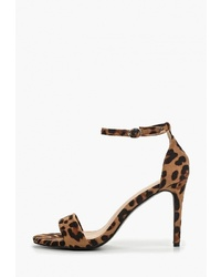 Коричневые замшевые босоножки на каблуке от Queen Vivi