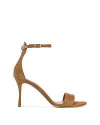 Коричневые замшевые босоножки на каблуке от Tabitha Simmons