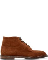Мужские коричневые замшевые ботинки броги от Dolce & Gabbana
