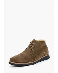 Коричневые замшевые ботинки дезерты от Affex