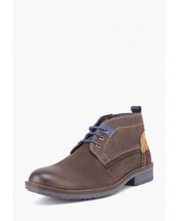 Коричневые замшевые ботинки дезерты от Airbox