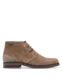 Коричневые замшевые ботинки дезерты от Barbour