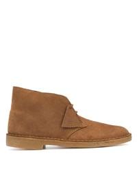 Коричневые замшевые ботинки дезерты от Clarks Originals
