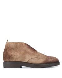 Коричневые замшевые ботинки дезерты от Doucal's