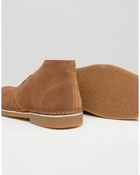 Коричневые замшевые ботинки дезерты от Selected