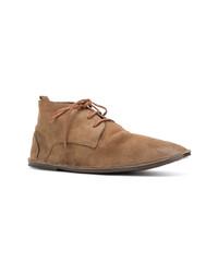 Коричневые замшевые ботинки дезерты от Marsèll