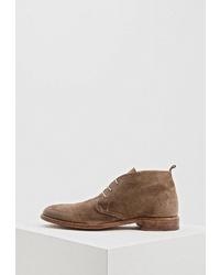 Коричневые замшевые ботинки дезерты от Moma