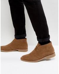 Коричневые замшевые ботинки дезерты от New Look