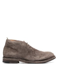 Коричневые замшевые ботинки дезерты от Officine Creative
