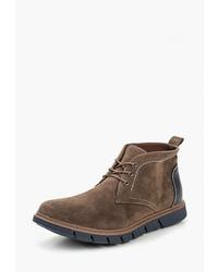Коричневые замшевые ботинки дезерты от Piazza Italia