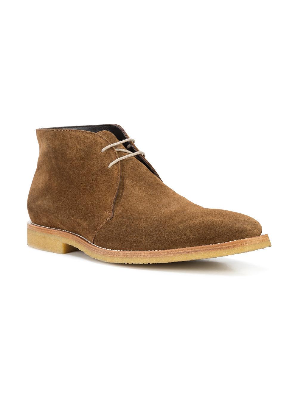 Коричневые замшевые ботинки дезерты от To Boot New York